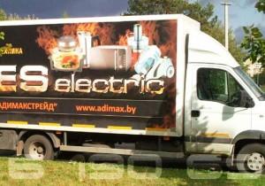 реклама на грузовом авто